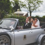 Vintage Convertible Wedding Car